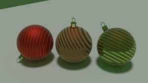 3D christmass balls