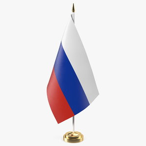 3D table flag russia model