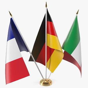 3D table flags germany france