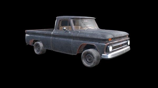 3D chevrolet c10 1965