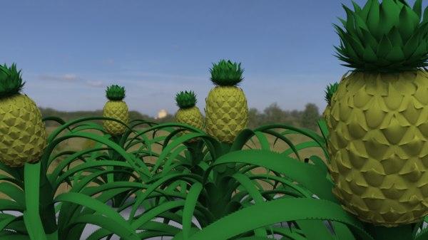 pineapple plant 3D