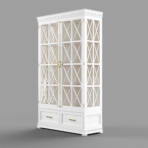 3D commode glass wood