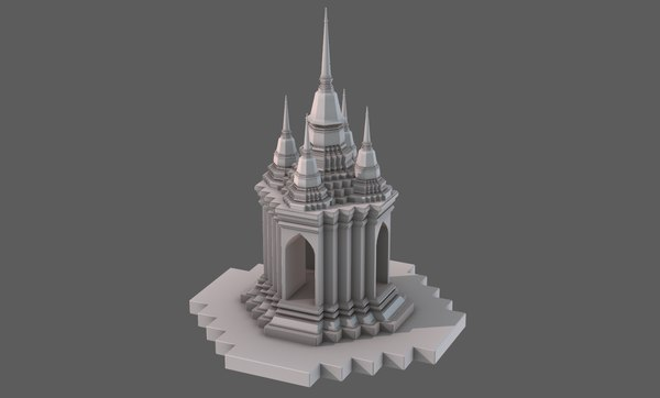 3D temple pagoda v06