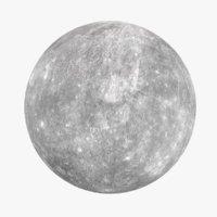 stylized planet mercury model