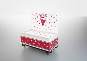 3D freezer display pizza model