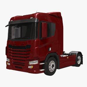 generic european semi truck 3D model