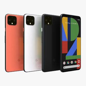 3D google pixel 4 xl