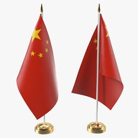 3D model table flag china