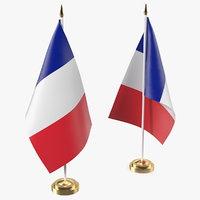 3D table flag france