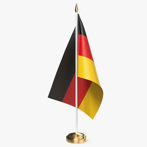 3D table flag germany model