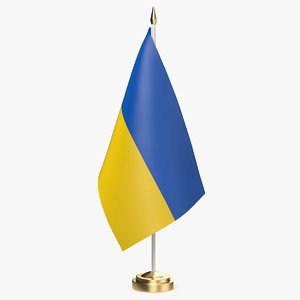 table flag ukraine model