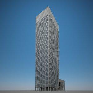 3D skyscraper stone