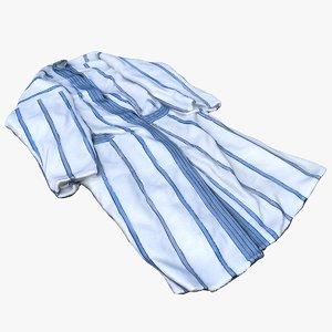 bathrobe robe cloth 3D
