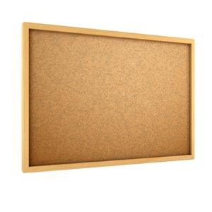 cartoon cork board 3D model