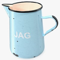 3D enamel jug old metal model