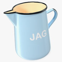 enamel jug 3D model