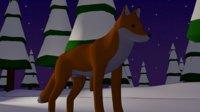 Cartoon Fox rigged with run animation