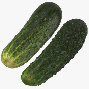3D kirby cucumbers 03 model