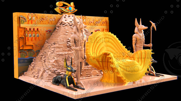 king pharaohs throne model