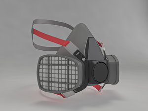 safety respirator 3D model