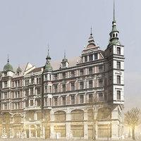 historic city scene 3D model