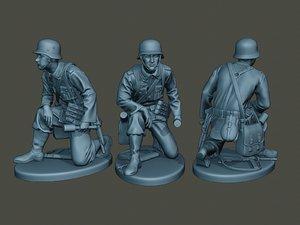 3D german soldier ww2 grenade