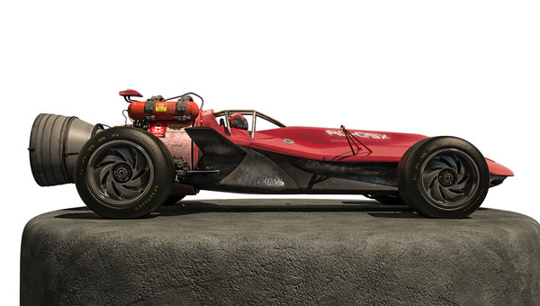 3D rocket car model