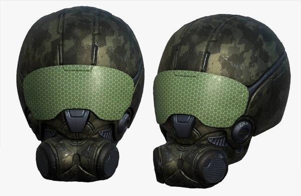 3D helmet sci fi