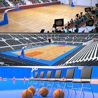 basketball stadiums arena 3D model