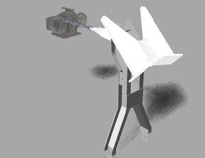 3D model anchor winch