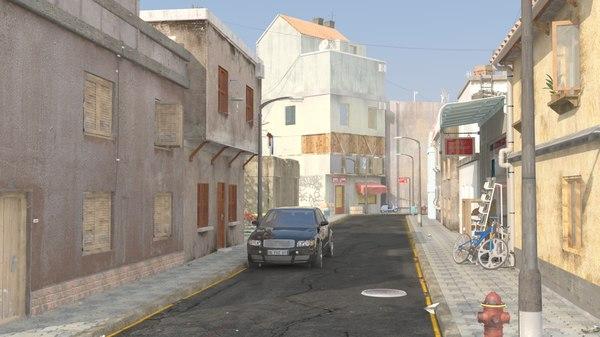 town street scene 3D model