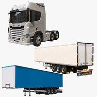 generic semi truck model
