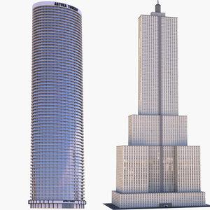 3D skyscrapers model
