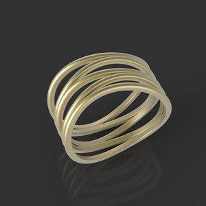 5 ring 3D model