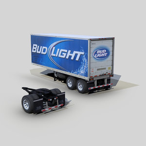 refrigerator trailer 28ft s02 3D model