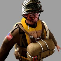 World War 2 US Paratrooper