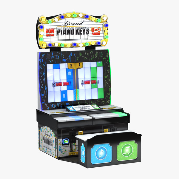 grand piano keys arcade 3D model