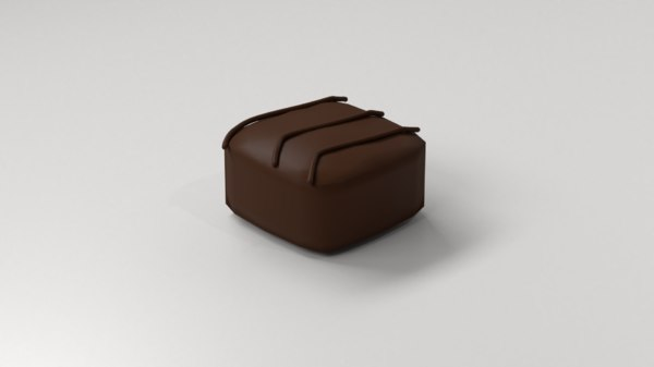 milk chocolate 1 3D model