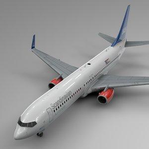 scandinavian boeing 737-800 l431 3D