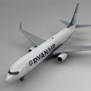 ryanair boeing 737-800 l430 3D model