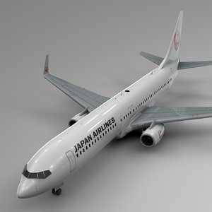 3D jal airlines boeing 737-800