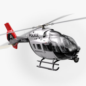 3D airbus h145 police helicopter interior