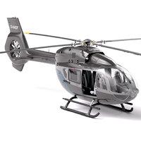 3D airbus h145 - interior model