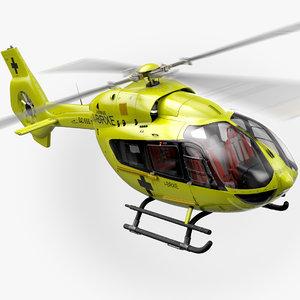 airbus h145 rescue interior 3D