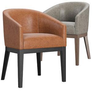 morgan barrelback slope leather chair model