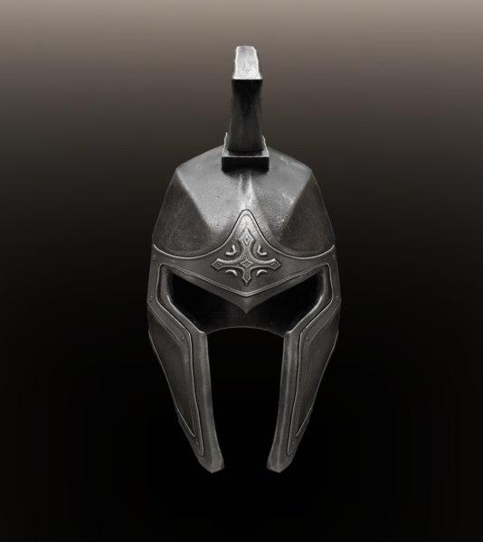ancient knight helmet 3D model