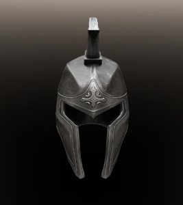 ancient knight helmet 3D model