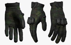 3D gloves military sci model