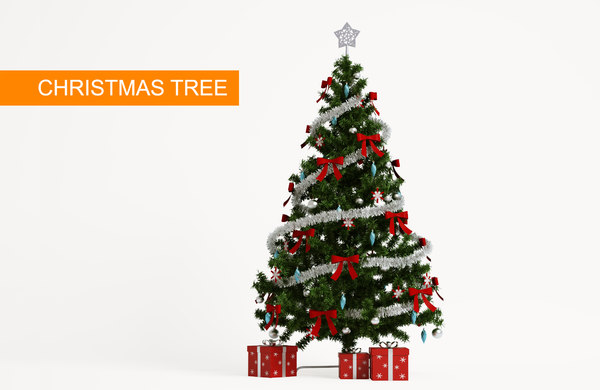 3D pine christmas tree