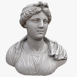3D young woman bust